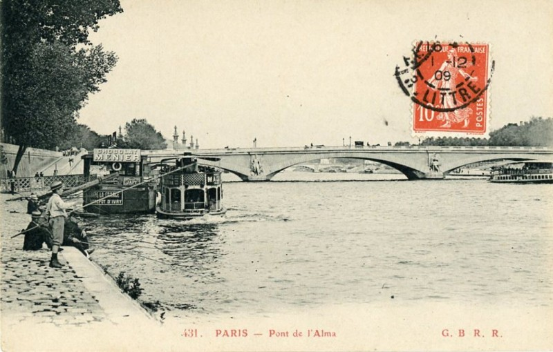 Le Pont de l'Alma avant 1974