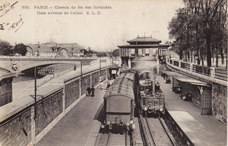 Chemin de fer des Invalides  - Gare de l'Alma