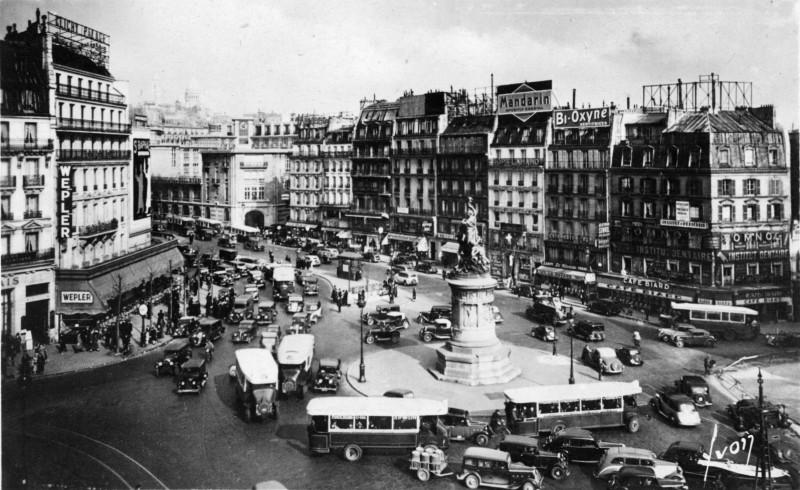 Place de Clichy dans les années 30