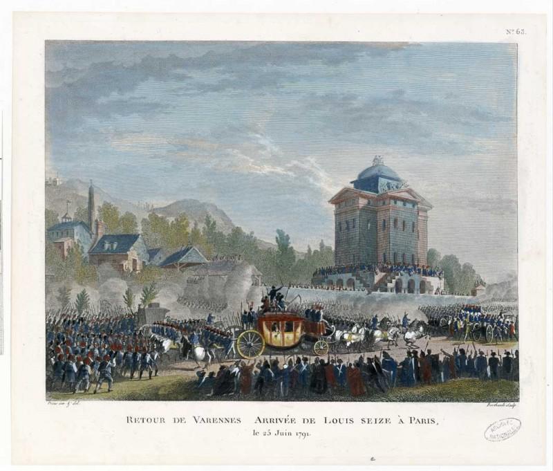 Barrière du Roule - Retour de Louis XVI depuis Varenne
