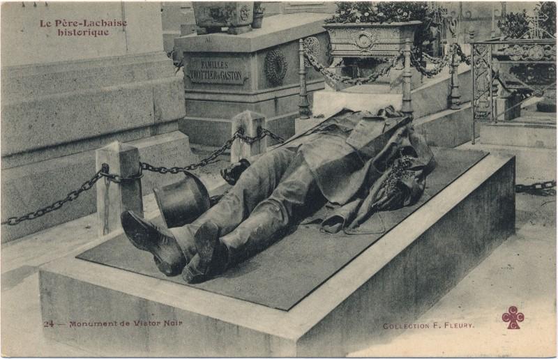 Tombe de Victor Noir au Père Lachaise