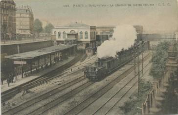 1854 – Les trains aux Batignolles