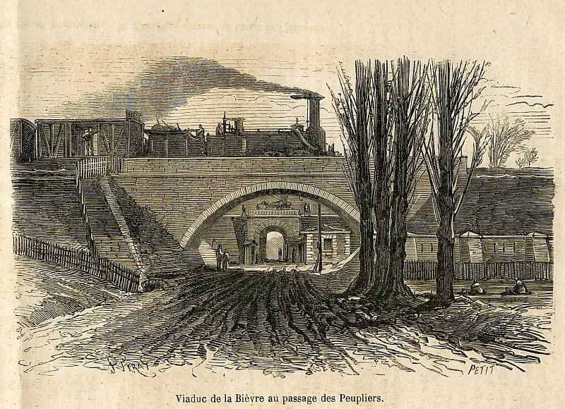 Chemin de fer de ceinture - Poterne des Peupliers 1867