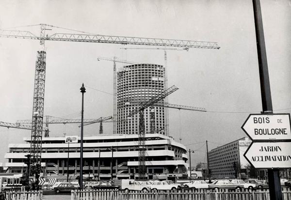 Construction du Palais des Congrès