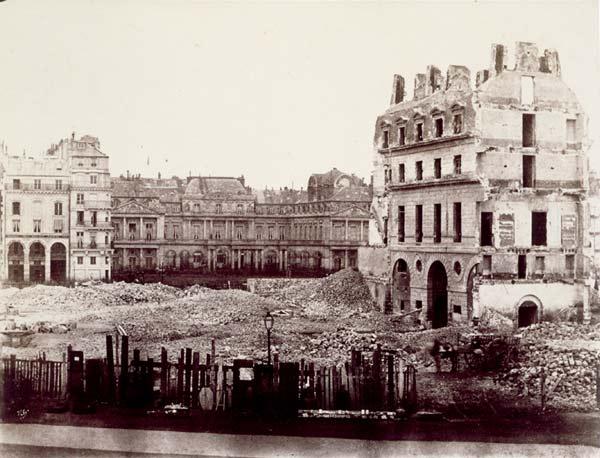 1851 marville - dégagement des immeubles sur la place