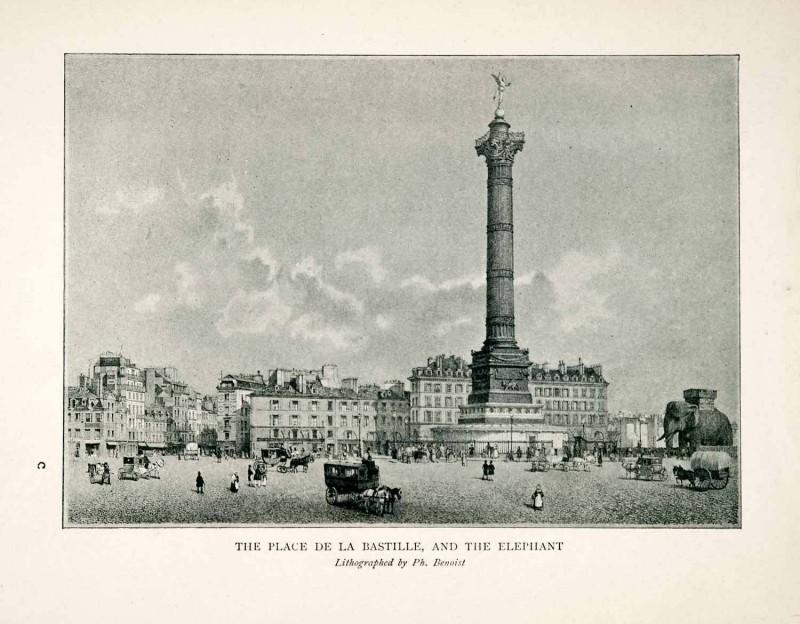 Place de la Bastille 1840
