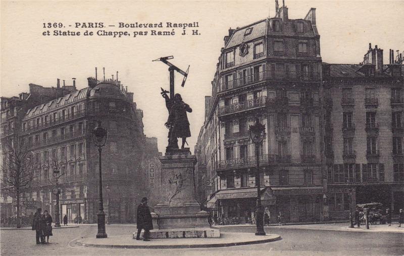 Statue de Chappe au carrefour Saint Germain - Fondue en 1942