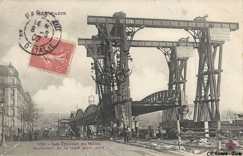 Construction du métro 1906