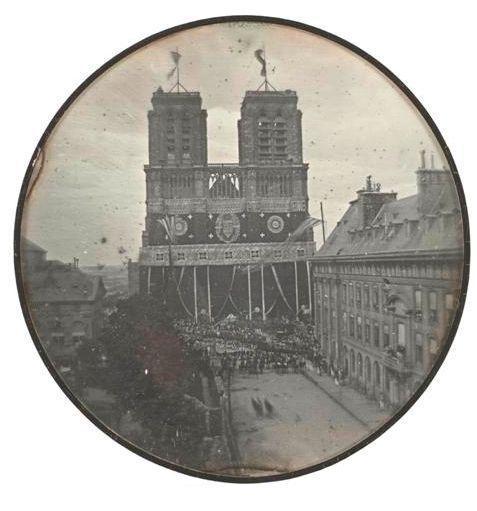 Notre Dame de Paris 1842 - funérailles du Duc d'Orléans