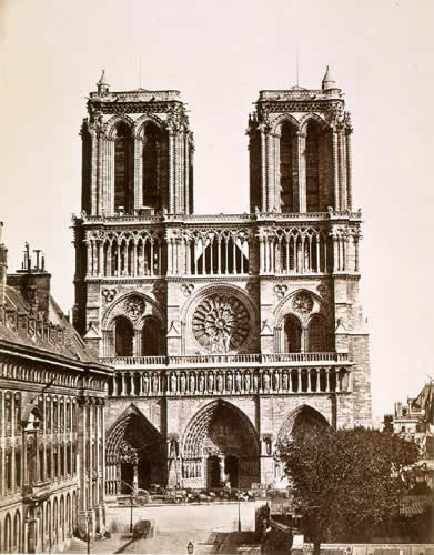Notre Dame vers 1850
