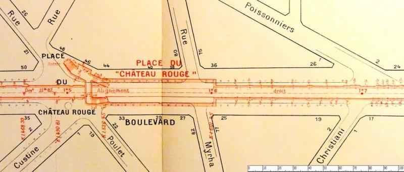 Plan du métro Château Rouge
