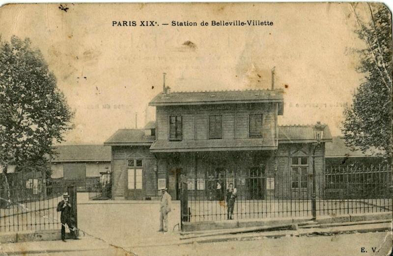 Gare de ceinture - Belleville Villette au niveau du 98 - démolie dans les années 80.