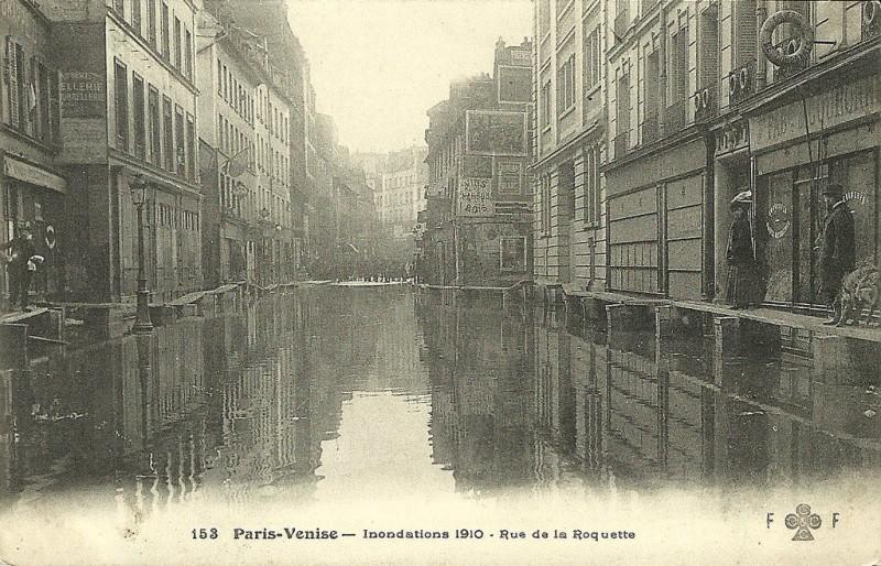 Durant les inondations de 1910.