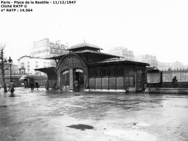 Pagode de la Bastille en 1947 - La marquise avait disparu