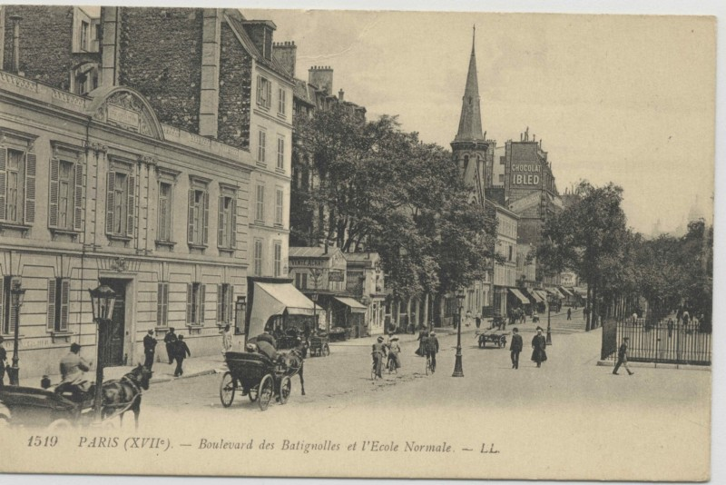 1910-Paris_-Bld-Batignolles-Ecole_Normale