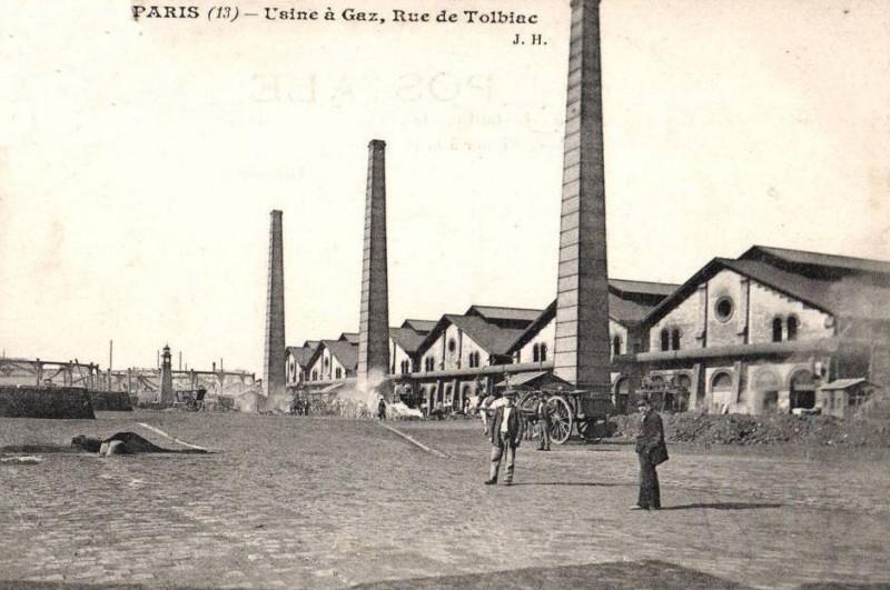 Usine à Gaz de la rue de Tolbiac
