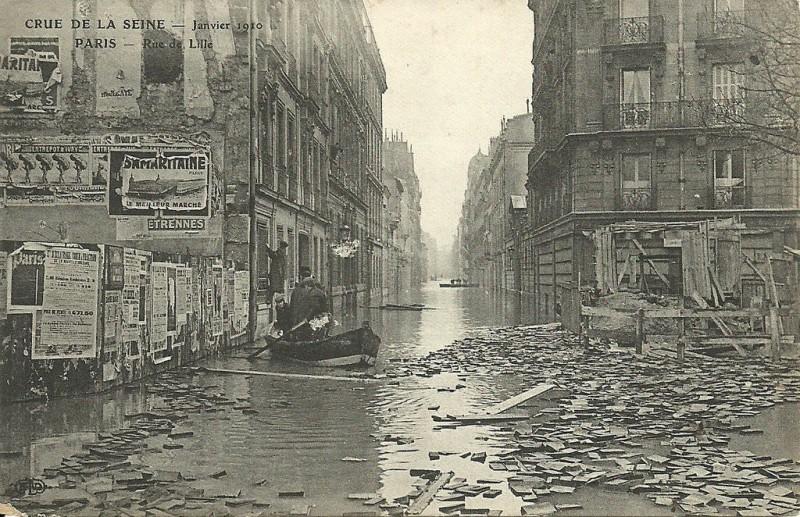 Rue de Lille inondée