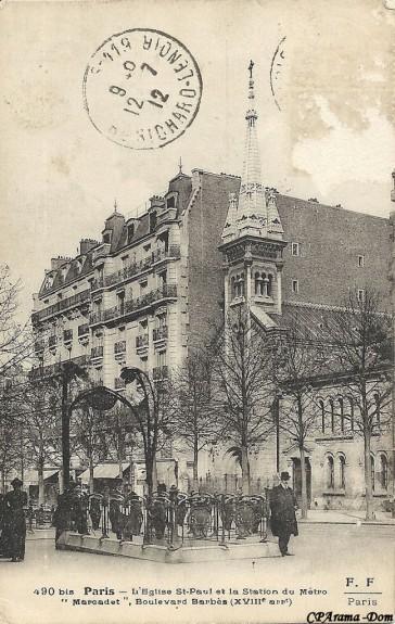 1908 – Les stations Marcadet