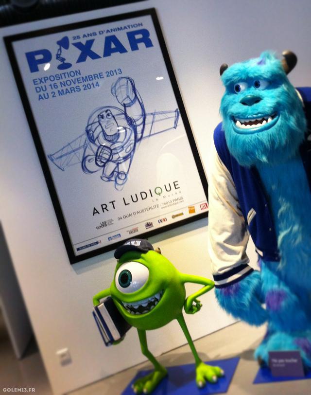 Art ludique, le musée Expo Pixar ©golem13