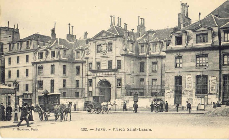 Paris, St. Lazare, exterior, post card