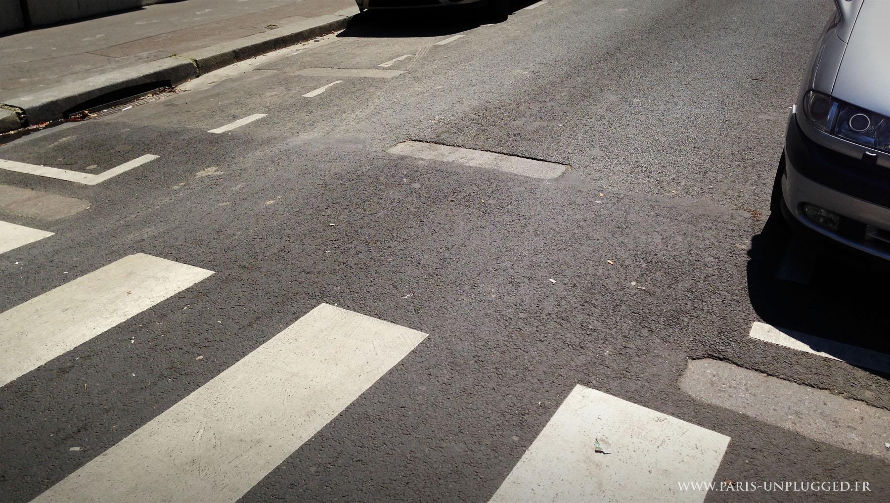 traces de la Guillotine rue de la Croix Faubin