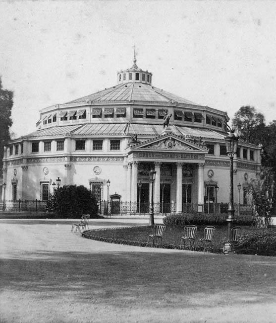 Le Cirque d'Été du Carré Marigny, démoli vers 1900