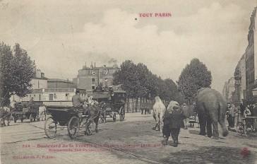 1864 – Le Boulevard de la Villette