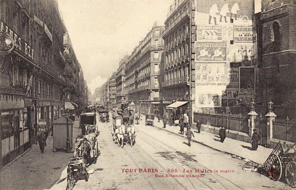 1858 - Rue  U00c9tienne Marcel