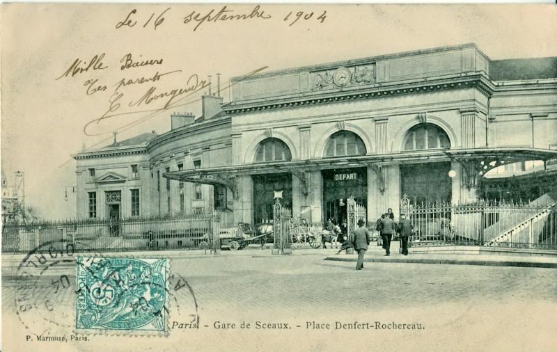 PARIS_-_Gare_de_Sceaux_-_Place_Denfert_Rochereau