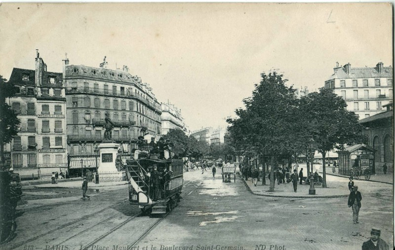 ND_613_-_PARIS_-_La_Place_Maubert_et_le_Boulevard_Saint-Germain