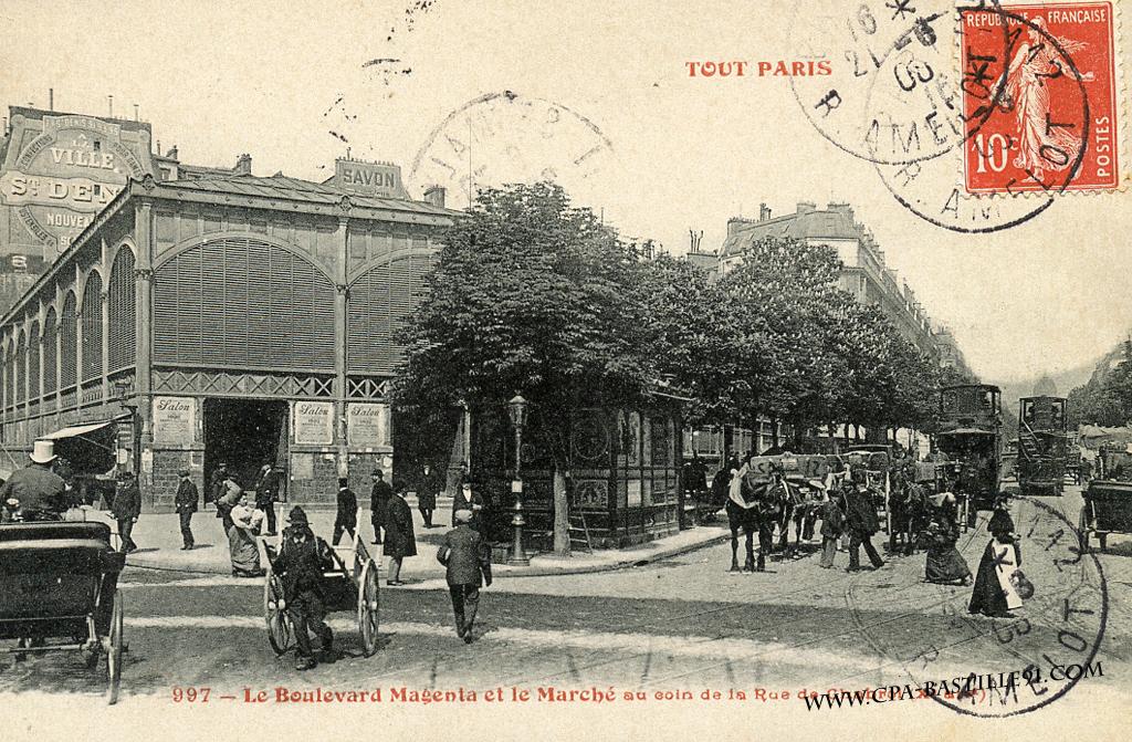 Marché Saint Quentin 1900