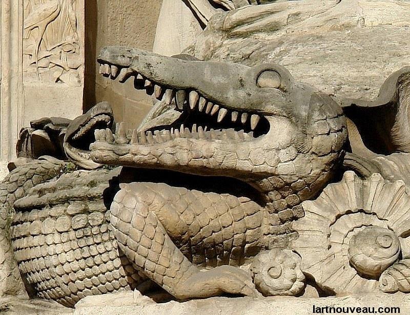 Le Crocodile de la Fontaine Cuvier -©lartnouveau