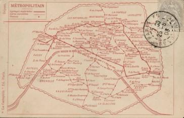 1903 – Le plan du Métro