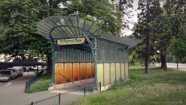 Paris 16 – L'édicule Guimard de la Porte Dauphine